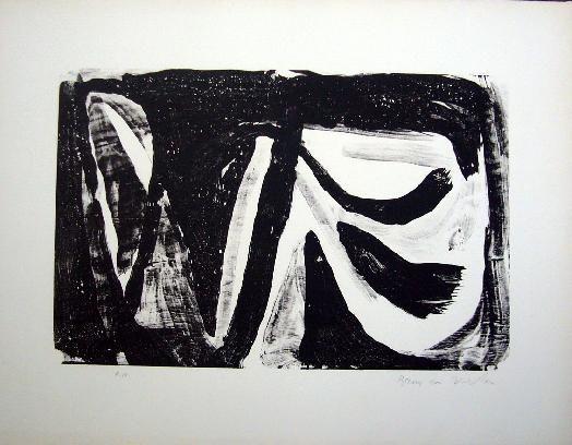 Lithograph Van Velde - MP 20