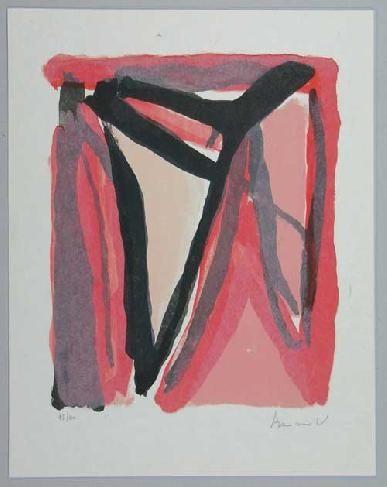 Lithograph Van Velde - Mp 294