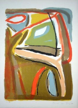Lithograph Van Velde - MP 44 - Soleil