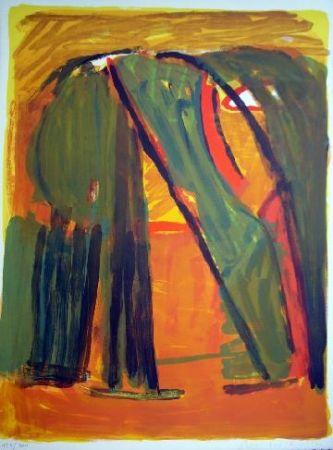 Lithograph Van Velde - MP 61 - Forêt