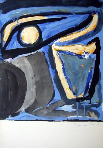 Lithograph Van Velde - MP 65 -Musée national d'Art moderne