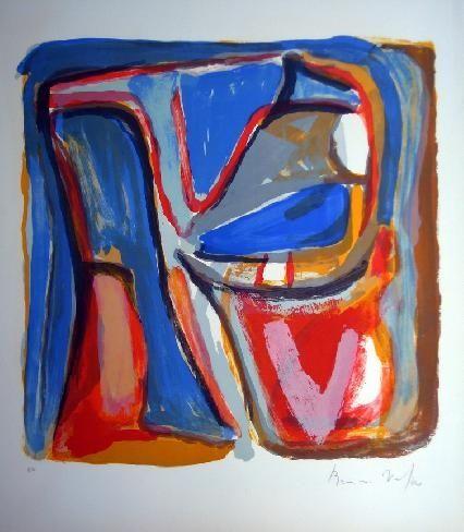 Lithograph Van Velde - MP 75