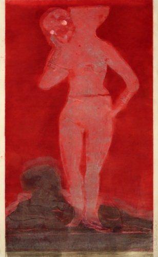 Monotype Ikemura - Muchacha con la muerte 1