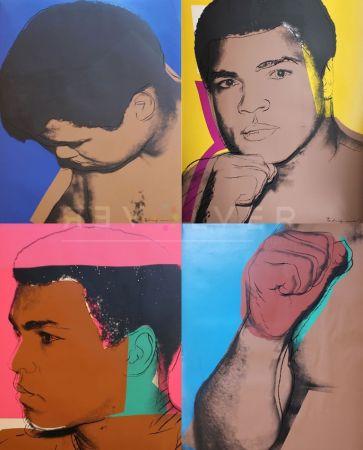 Screenprint Warhol - Muhammad Ali Complete Portfolio (FS II.179-182)
