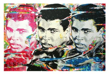 Screenprint Mr Brainwash - Muhammad Ali – The Champ