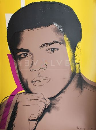 Screenprint Warhol - Muhammad Ali, Yellow (FS II.182)