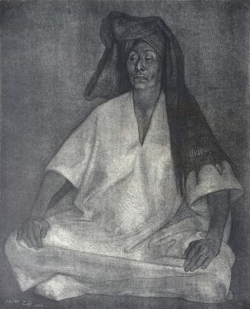 Lithograph Zuniga - Mujer de Oaxaca