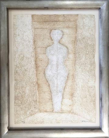 Etching Tamayo - Mujer en Blanco - Woman in White (Pereda 174)