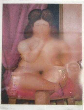 Lithograph Botero - Mujer fumando