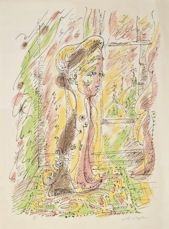 Lithograph Masson - Mujer junto a la ventana