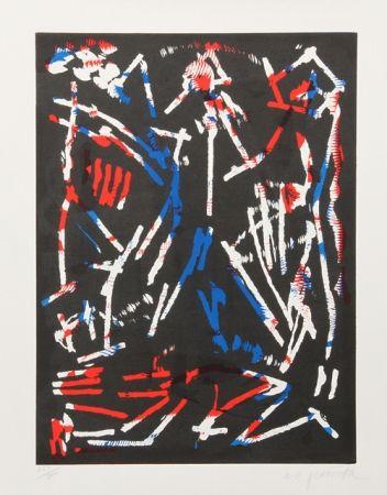 Woodcut Penck - Mul. Bul. Dang & Sentimentality