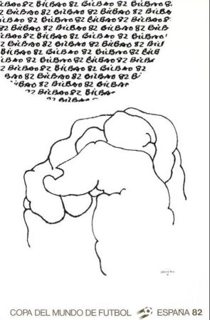 Lithograph Chillida - '' Mundial 1982 ''
