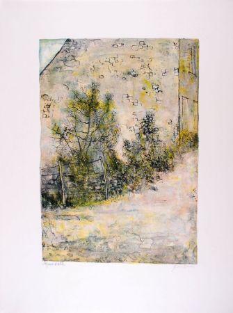 Lithograph Gantner - Mur de ferme - Farm's wall