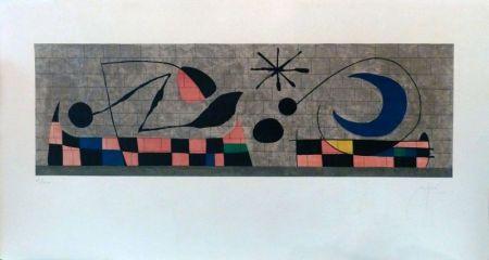 Lithograph Miró - Mur de la Lune