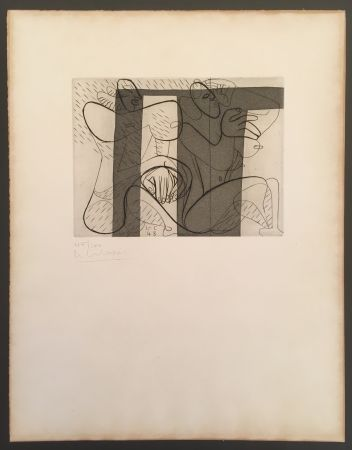 Etching And Aquatint Le Corbusier - Murale (hand-signed & numbered)