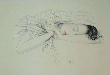 Lithograph Sauer - Murasaki