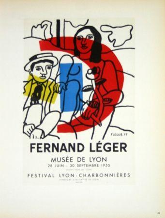 Lithograph Leger - Musée de Lyon  1955