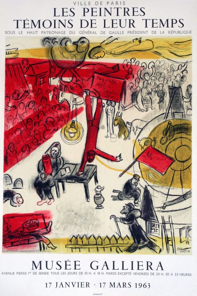Lithograph Chagall - '' Musée Galliera ''