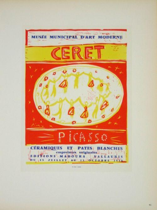 Lithograph Picasso (After) - Musée  Municipal de Céret  1958