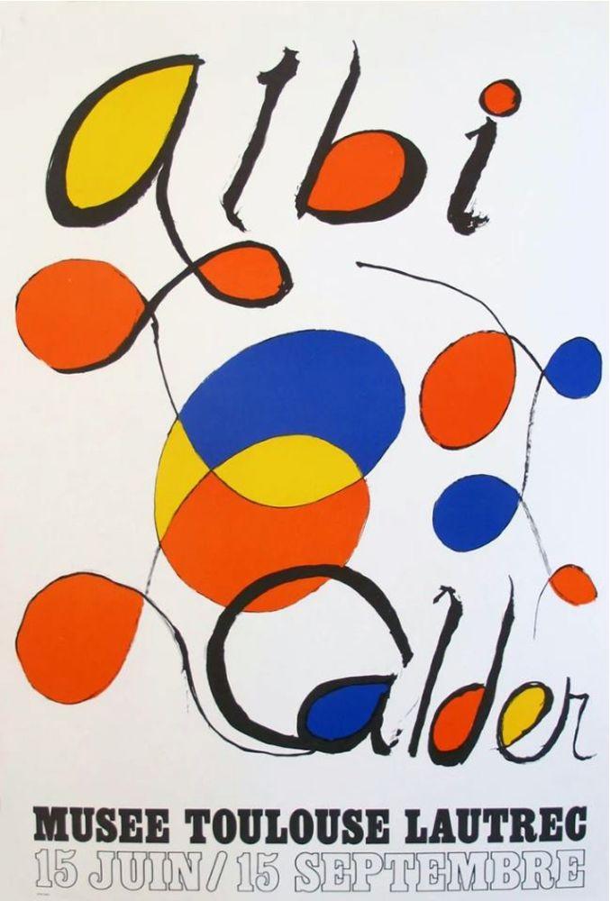 Lithograph Calder - '' Musée Toulouse Lautrec ''