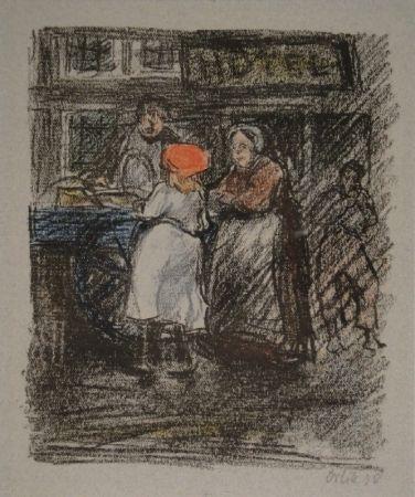 Lithograph Orlik - Muschelverkäufer