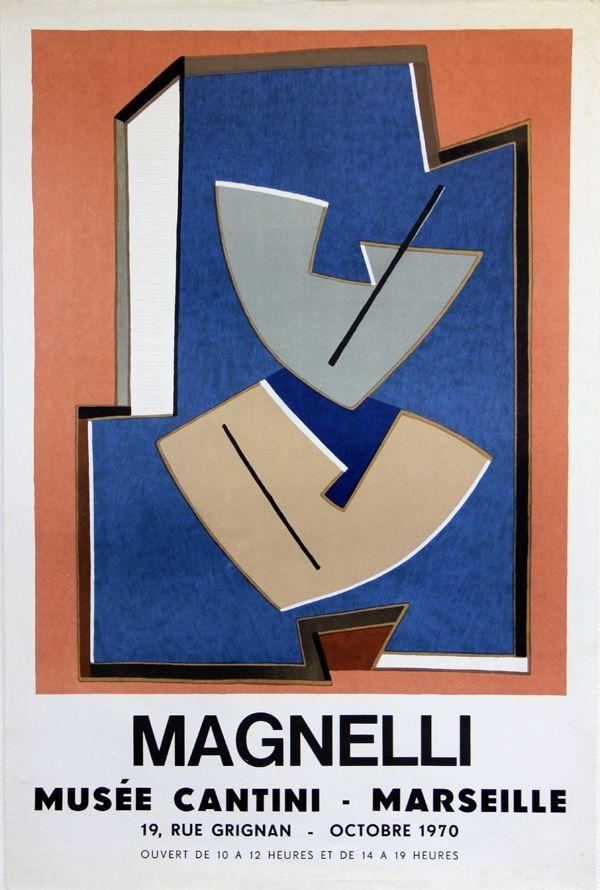 Lithograph Magnelli - Musee Cantini  Marseille