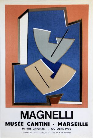 Lithograph Magnelli - Musee Cantini  Marseille