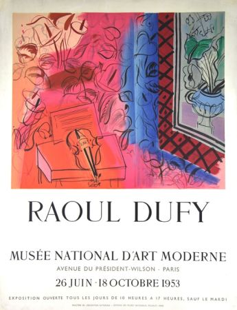 Lithograph Dufy - Musee  D'Art Moderne 1953