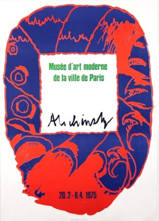 Lithograph Alechinsky - Musee d'Art Moderne de Paris