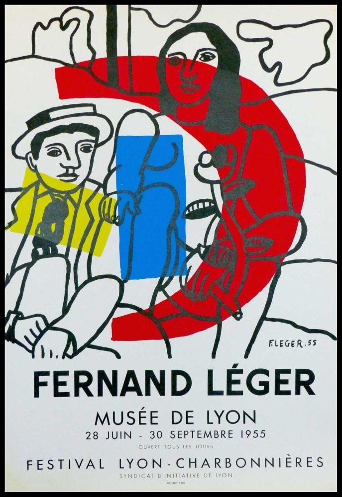Lithograph Leger - MUSEE DE LYON - FESTIVAL LYON CHARBONNIERES