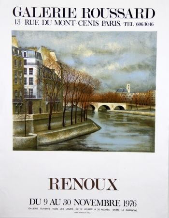 Lithograph Renoux - Musee du Luxembourg