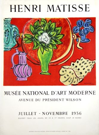Lithograph Matisse - Musee Natianal D'art Moderne