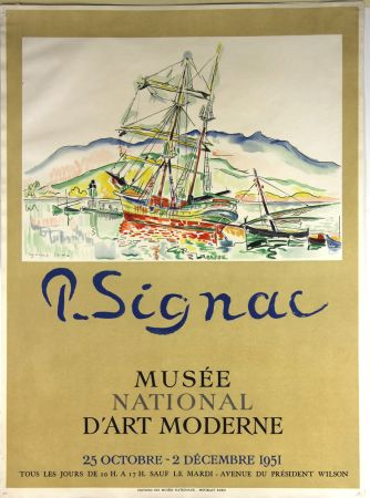 Lithograph Signac - Musee National d'Art Moderne