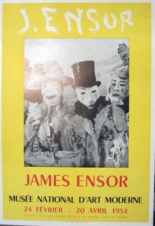 Lithograph Ensor - Musee Natonal D'Art Moderne