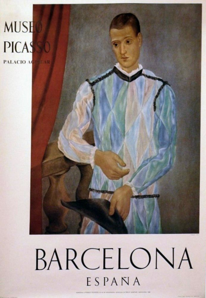 Poster Picasso - '' Museo Barcelona ''