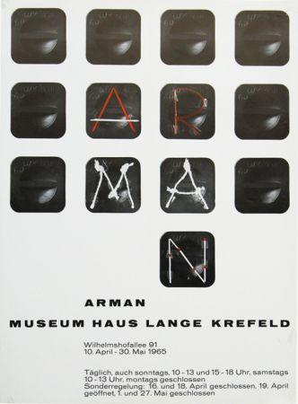 Poster Arman - '' Museum Haus Lange ''  Krefeld