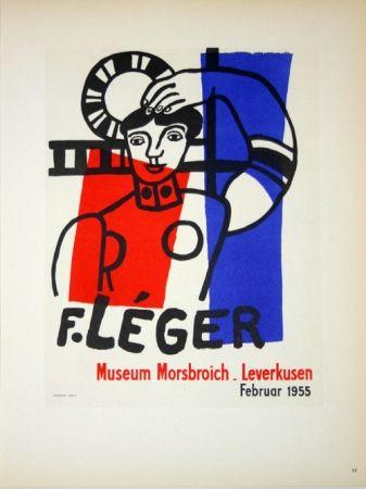 Lithograph Leger - Museum  Morsbroich  - Leverkussen 1955