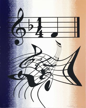 Lithograph Ruscha - Music