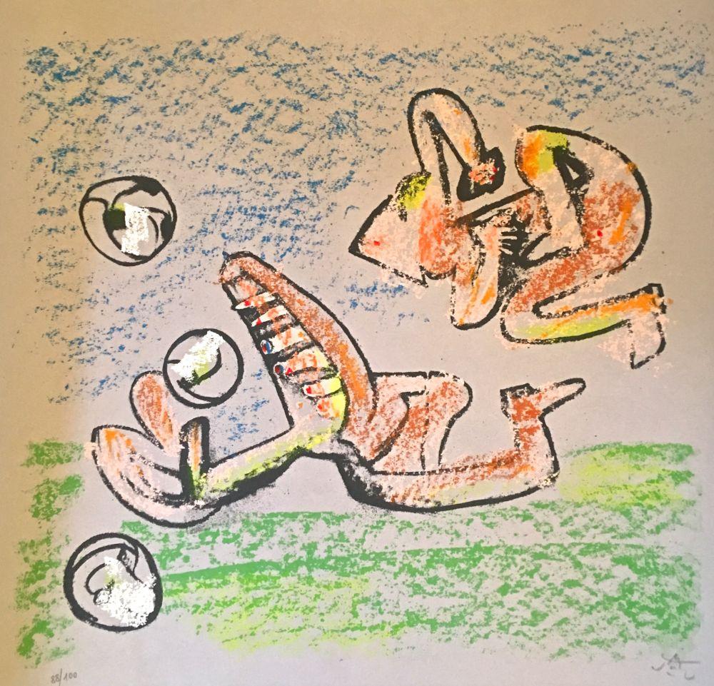 Lithograph Matta - Music foot II