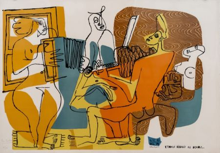 Lithograph Le Corbusier - Musiciennes (hand-signed & numbered)