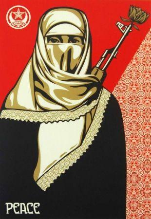 Screenprint Fairey - Muslim Woman