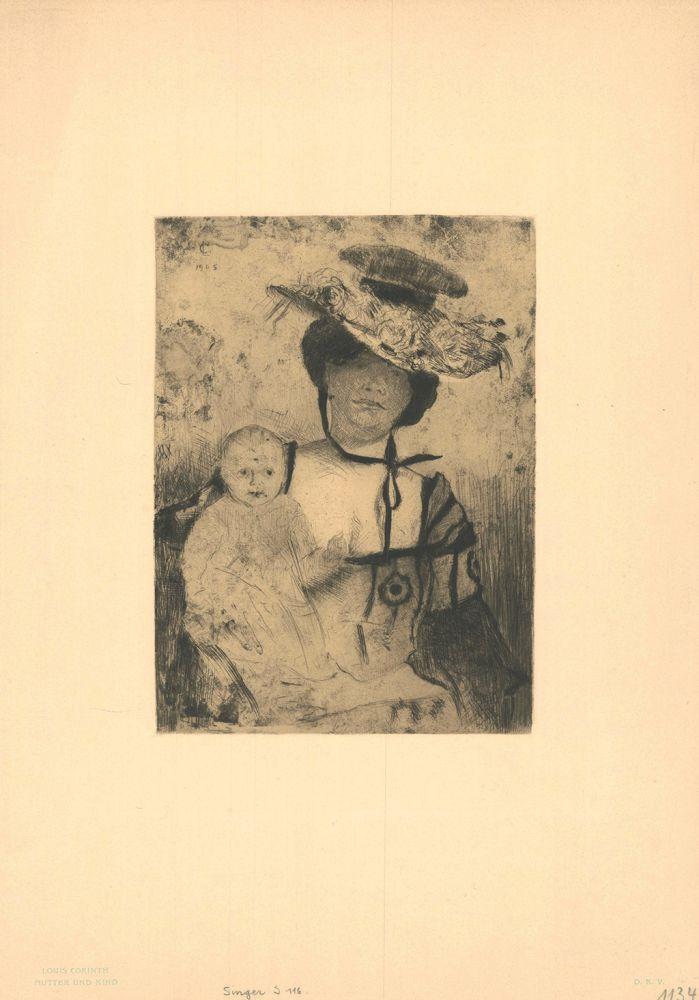 Etching Corinth - Mutter und Kind