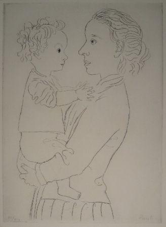Engraving Pauli - Mutter und Kind