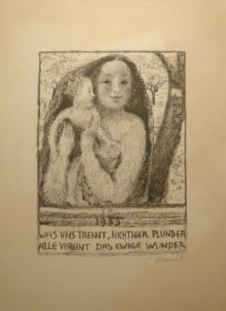 Lithograph Amiet - Mutter Und Kind