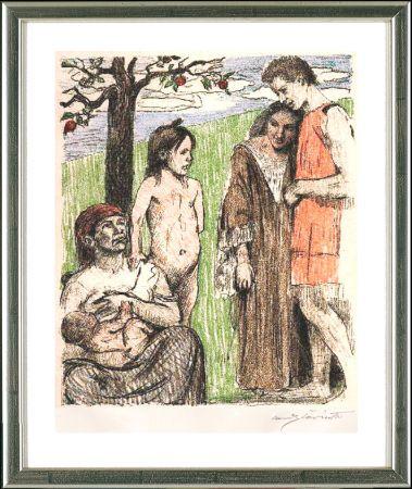 Lithograph Corinth - Mutterfreuden