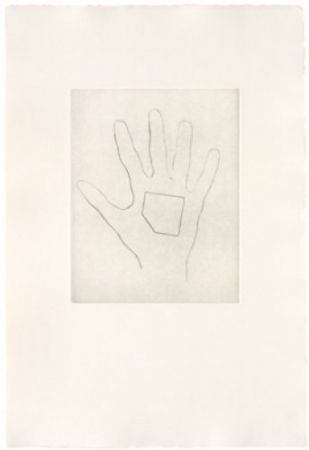 Drypoint Monk - My Left Hand Holding a Square 4