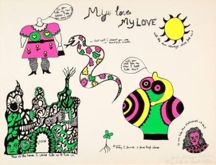 Screenprint De Saint Phalle - My love my love