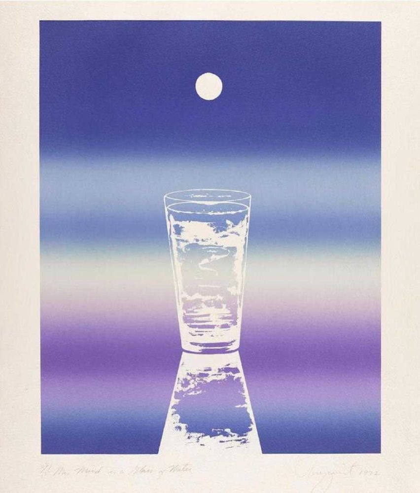 Lithograph Rosenquist - My mind is a glass of water