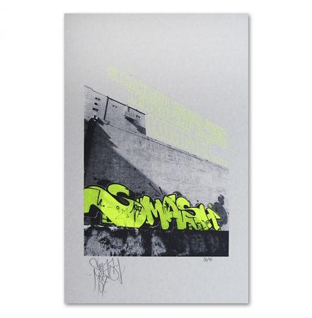 Screenprint Falkner - My Space yellow