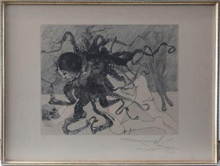Etching And Aquatint Dali - Mythologie : Medusa